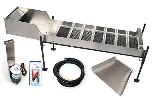 Highbanker, Gold Sluices and Power Sluice Kits - Gold Mining Equipment (10' Mini Power Sluice & Set Up Kit)