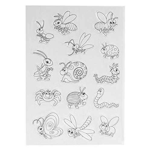 AIUI Stempel Clear Stamp Silikonstempel Insekt Tier Silikon Clear Seal Stempel DIY Sammelalbum Prägung Album Dekor
