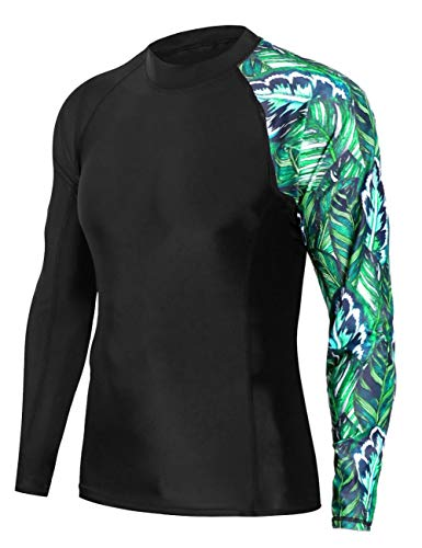 beautyin Sun Protective Swimsuit for Men Full Body UPF 50 Rash Guard Long Sleeve