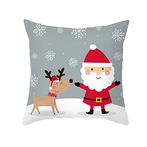 MPWPQ Christmas decoration cover 45 * 45 Pillowcase sofa cushions Home Decor New Year 2020 navidad decoraciones para el hogar kerst (Color : Champagne)