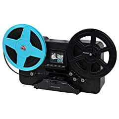 "BRING BACK THE MEMORIES - Automatically converts your 3"", 5"", and 7"" reels of super 8/8mm film into digital MP4 files with the push of a button. Scans video only, no sound. MULTIPLE VIEWING OPTIONS - Playback your scanned video on the built-in 2.3"" L..."