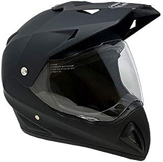 MMG 27V Helmet Dual Sport Off Road Motorcycle Dirt Bike ATV, FlipUp Visor, Matte Black, Large