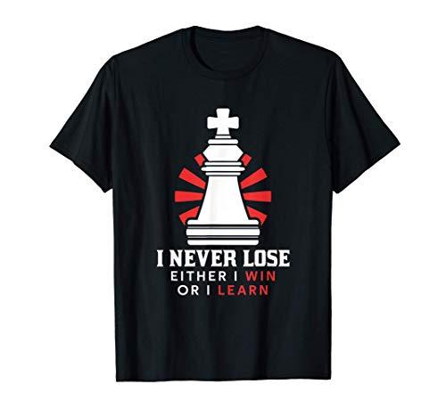 私は決して緩まない、私は勝つか、私は学ぶ、チェス Tシャツ