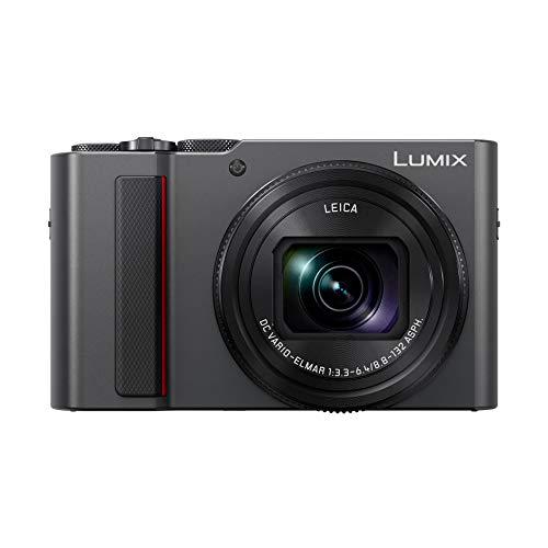 Panasonic Lumix TZ200 | Kompaktkamera Expert (großer Sensor Typ 1 Zoll 20 MP, Zoom Leica 15x F3.3-6.4, Sucher, Touchscreen, Video 4K, Stabilisation) Silber – Französische Version
