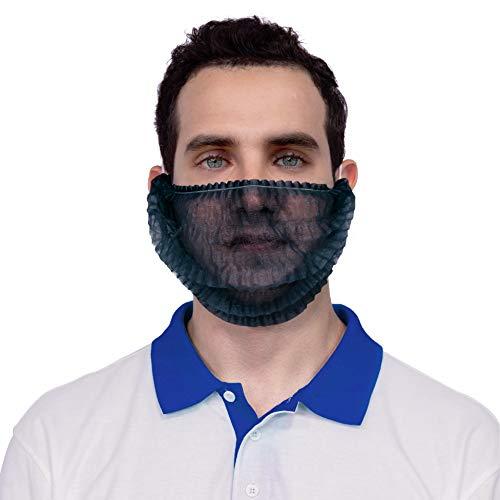 AMZ Pack of 100 Black Polypropylene Beard Covers 18' Pleated Disposable Beard Guards Industrial Grade Beard Net Protectors Beard Hair Nets Facial Lightweight Hair Covering, Wholesale Price