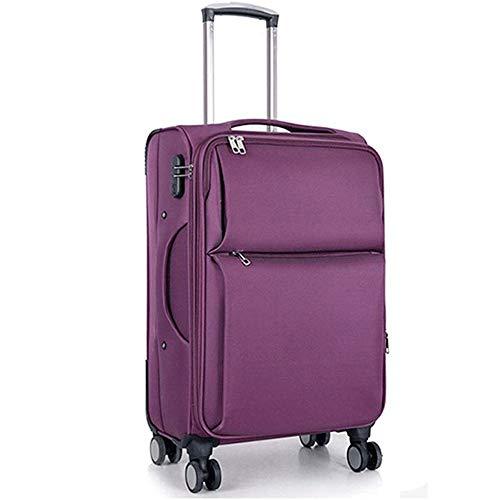 SMX Explora Land Travel Equipaje La Tapa de la Maleta Protector Adapta a 20-28 Pulgadas Oxford Equipaje (20-28 Pulgadas de Equipaje) (Color : Purple, Size : 24in)