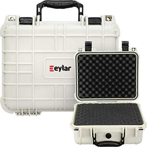 Eylar Protective Hard Camera Case Water & Shock Proof w/Foam TSA Approved 13.37 Inch 11.62 Inch 6 Inch Storm White