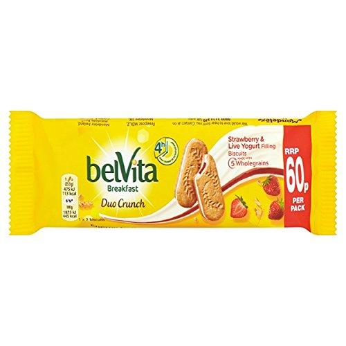 Belvita desayuno Galletas Duo Crunch fresa y yogur vivo 60p 50,6 g (paquete de 18 x 50 g)
