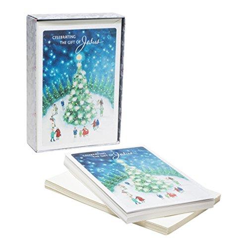 DaySpring Kerstkaarten met enveloppen, sneeuwscène, 18 stuks