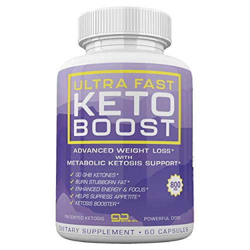 Ultra Fast Keto Boost - Advanced Weight Loss with Metabolic Ketosis Support - 800MG - 60 Capsules - 30 Day Supply 1