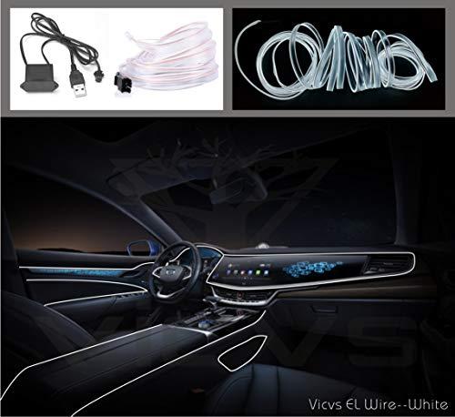 Cable de electroluminiscencia USB de neón LED flexible, para decoración de interior del coche, con luz fría y ambiente para fiestas de Navidad …