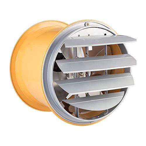 FREEDOH Ventilador Extractor Industrial Alta Velocidad 12 Pulgadas 250 W Ventilador Conducto Alta Velocidad con Persianas Ventilador Ventilación Flujo Aire Fuerte Adecuado para Almacenes Talleres