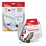 Original Beater Blade for 6 quart Bowl Lift Stand Mixer and Universal Pour Chute Set, PC-6L, Made in USA