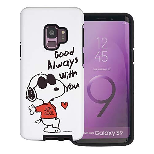 """Galaxy S9 ケース と互換性があります Peanuts Snoopy ピーナッツ スヌーピー ダブル バンパー ケース デュアルレイヤー 【 ギャラクシー S9 ケース (5.8"""") 】 (スヌーピー な愛 赤) [並行輸入品]"""