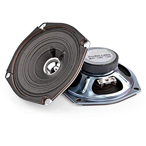 JINGERL 2 stücke 5 Zoll Portable Audio Full Range Lautsprecher Spalte Musik Sound Lautsprecher 4 Ohm 5 W Lautsprecher DIY Für Heimkino (Color : 8 Ohm Speaker)
