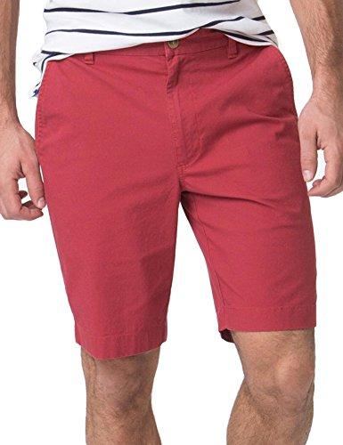 Chaps Men's Classic-Fit Poplin Flat-Front Stretch Bermuda Shorts (Red Leaf, 30)