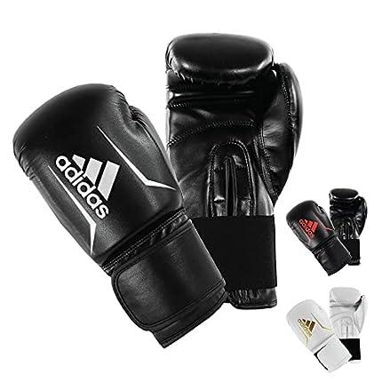 adidas Speed 50 - Guantes de Boxeo para Adulto, Color Negro y Blanco
