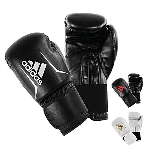adidas Gants de Boxe Speed 50 pour Adulte - Noir/Blanc - 14 oz