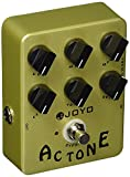 JOYO JF-13 AC Tone Vintage Tube Amplifier Effects Pedal Analog Circuit and Bypass British Rock Distortion Sound for Electric Guitar Effect