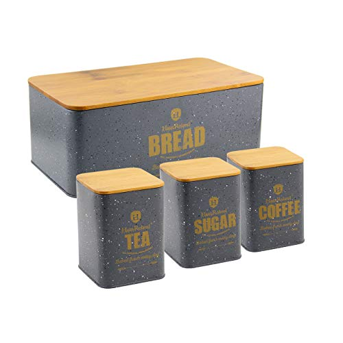 HausRoland Bread Box for Kitchen Counter Stainless Steel Bread Bin Storage Container For Loaves...