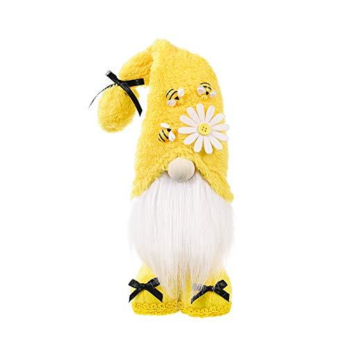 Bumble Bee Gnomes - Muñeca sin rostro para niños, regalo de cumpleaños hecho a mano, muñeca de peluche, adornos de Gnomo, decoración del hogar