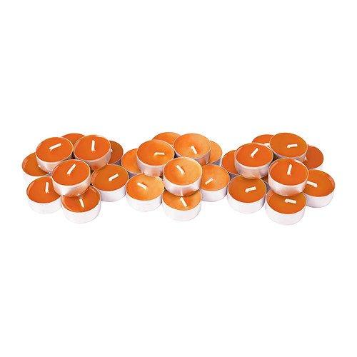 IKEA SINNLIG - Scented tealight, Tangerine sunshine, orange / 30 pack / 30 pack
