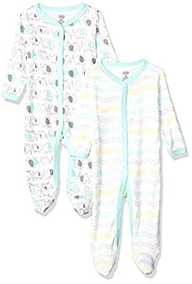 Luvable Friends Unisex Baby Cotton Sleep and Play, Elephants, 3-6 Months