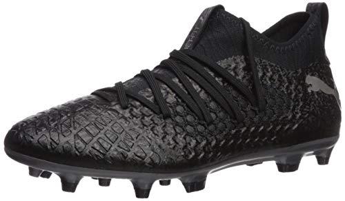 PUMA Men's Future 4.3 Netfit FG Sneaker, Black Black Aged Silver, 11.5 M US