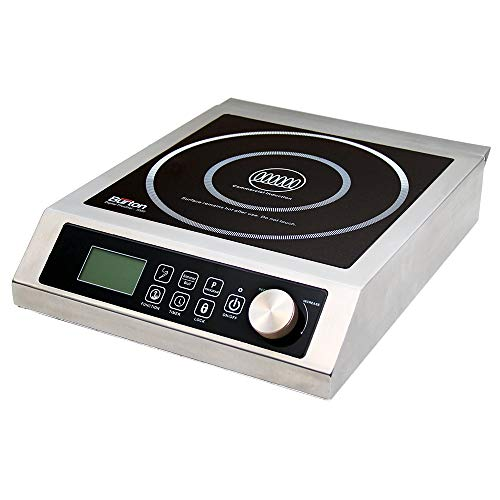 Max Burton 6535 Digital ProChef-3000 Induction Cooktop, Stainless-Steel Body, Larger 9' Coil To Handle Larger Cookware, 10 Temperature Levels (100° - 464°F), 220 Volts, 3000 Watts