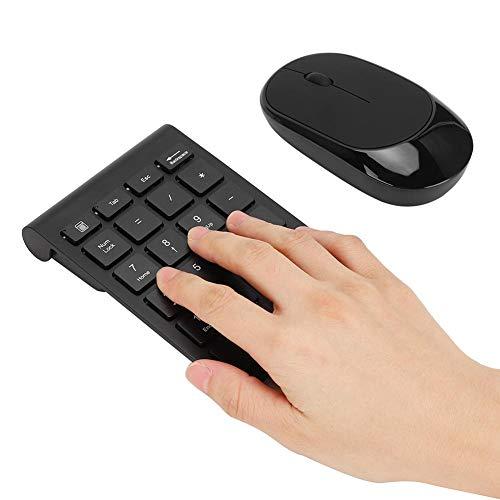 Teclado numérico, teclado e mouse para mouse 2.4G 1600 DPl ultrafinos, mouse sem fio, para RF304T
