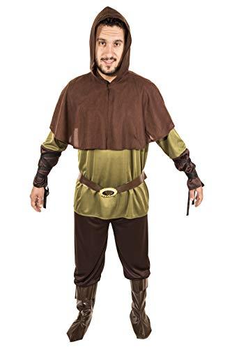 Costumizate! Disfraz de Robin Hood Adulto Especial para Fiestas de Disfraces y Carnaval Talla Unica