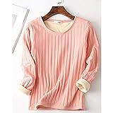 MAZS Plus Size Winter Unterwäsche Baumwolle Warme Frauen T-Shirt Dickes Fleece Langarm Thermo...
