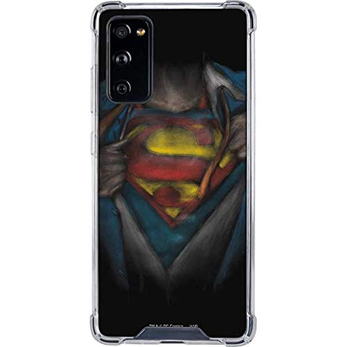 Skinit Clear Phone Case Compatible with Samsung Galaxy S20 FE - Officially Licensed Warner Bros Superman Chalk Design
