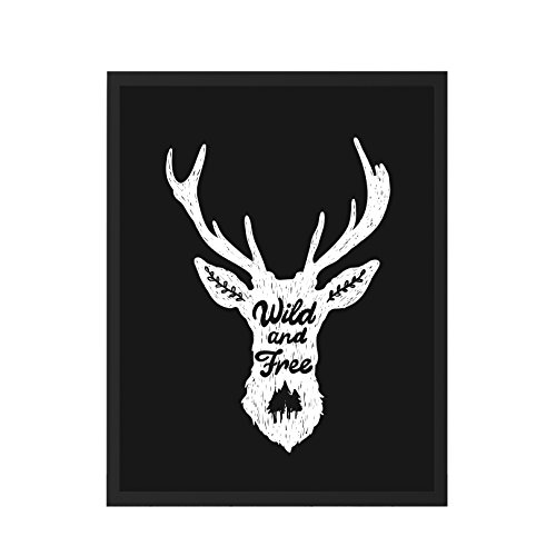 We Love Home – Tableau avec cadre en bois noir style scandinave design Wild Black (30 x 40)