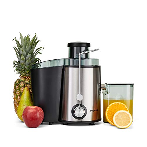 Emperial Juicer Centrifugal Machine for Whole Fruits and Vegetables, Dual Speed Settings & Extra Wide Feeding Shoot, 500ml Juice Jug & 1.4L Pulp Collector - 600W