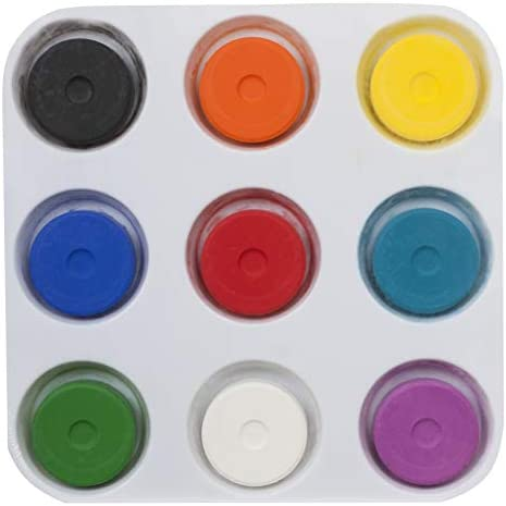 Tempera Paint Set for Kids WASHABLE Children s Non Toxic Tempera Paint Cakes with Palette Clean product image