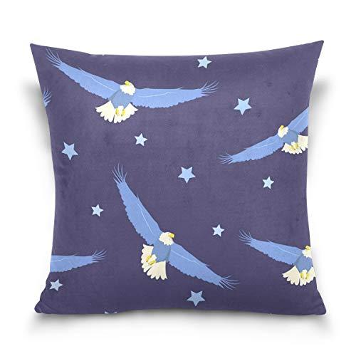 Funda de cojín LORONA con diseño de águila voladora de julio Th estampado, decoración para el hogar, para sofá, funda de cojín de 16 x 16 pulgadas, 16 x 16 pulgadas, Multicolor, 20 x 20 Inches 50.8 x 50.8 cm