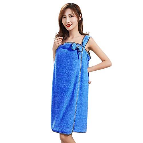 ZEZKT Toalla de baño de Terciopelo Coral para Mujer Wearable rápido Secado mágico baño Toalla de Playa Sexy sin Tirantes Falda de baño Absorbente 241