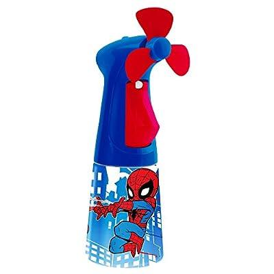 O2COOL Licensed Spiderman Misting Fan, Handheld Misting Fan, Battery Operated Fan, Water Spray Fan, Mini Portable Desk Fan, Personal Cooling Fan for Outdoor, Fine Mist Sprayer