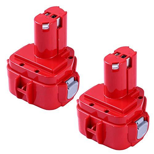 Topbatt 2X 12V 3.0Ah batería de repuesto para Makita Ni-MH 1222 PA12 1220 1233S 1233SA 1233 1234 1235 1235B 1235F 192696-2 192698-8 192698-A 193138-9 193157-5