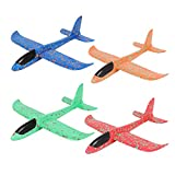 IVYTOHO 4 Pack Airplane Toys 14 inch Large Throwing Foam Plane 2 Flight Mode Glider Plane Flying Toy for Kids for 3 4 5 6 7 Year Old Boys Girls Outdoor Sport Activity Birthday Party Favors
