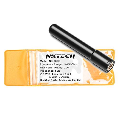 Nktech Antenna Dual Band ad alto guadagno SMA-maschio per TYT MD-380MD-390GPS DM-UVF10TH-UV8000d TH-UV8000E WOUXUN KG-UV6D PRO KG-UV8D KG-UV899 GD-77 GD-55 PLUS HYT