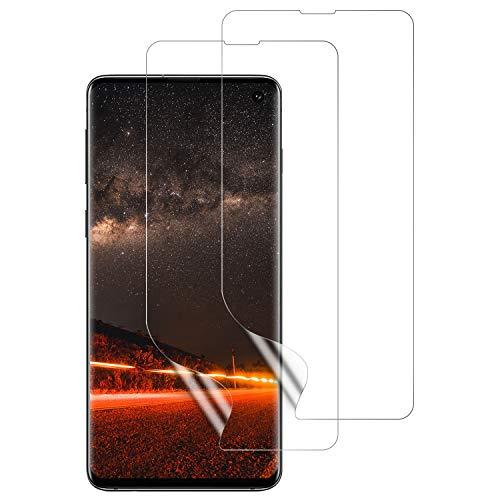 DASFOND Galaxy S10 Schutzfolie, [2 Stück] TPU Bildschirmschutzfolie für Samsung S10,Vollständige Abdeckung, Fingerabdruck kompatibel, Kratzfest, Blasenfreie, Klar HD Weich TPU Folie für S10
