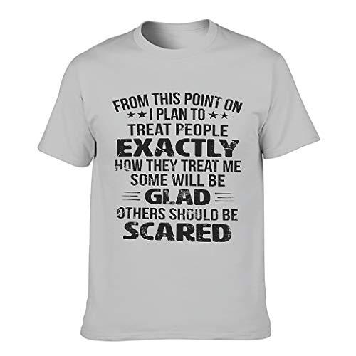 Camiseta con diseño gráfico para hombre, con texto 'Just Good EIS Print' Gris plateado. XXL