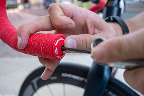 MARQUE Alloy ENZ Road Bike Handlebar Plugs – Aluminum Handle Bar Ends, Plugs for Drop Bars, Expandable Adjustable Locking End Caps – 2 pcs per Set
