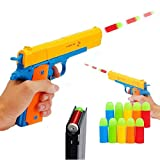 Alisaso Colt 1911 Kid Toy Gun with Soft Bullets Ejecting Magazine - Style of M1911 Toy Guns for Boys Pistol with Play,M1911A1 Colt 45 Dart Guns (Yellow)
