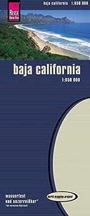 Baja California 1 : 650 000: Kartenbild 2seitig, klassifiziertes Straßennetz, Ortsindex, GPS-tauglich, wasserfest imprägniert