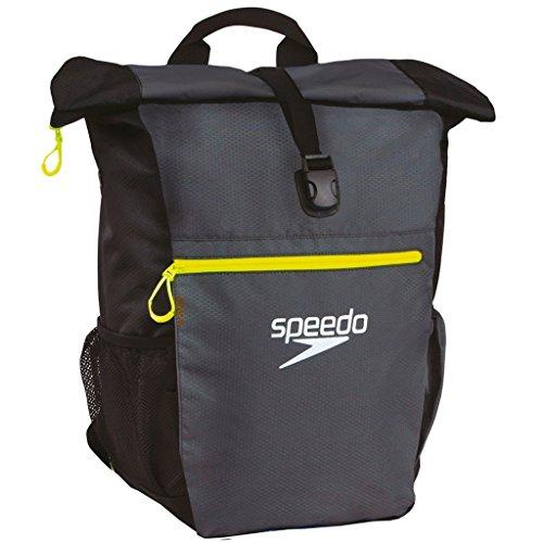 Speedo Erwachsene Team Rucksack III, Oxid Grey/Black/Fluo Yellow, 27 x 12 x 3 cm,45 Liter, 8-10382A877ONESIZE