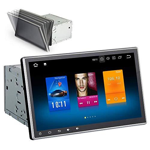 Dasaita 10.2' DAB Autoradio 2 din Android 9.0 4G RAM 32G ROM Stereo Auto Bluetooth con Schermo Supporto GPS WiFi FM/AM 3G/4G Carplay Mirrorlink Controllo del Volante Vivavoce 16G SD