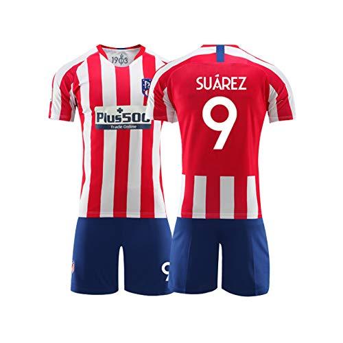 LIUJING Suarez Atletico Madrid Trikot Nr 9 Fußballkleidung passen männliche Sporttraining Jersey - Größe (Größe -2XL) 1-150